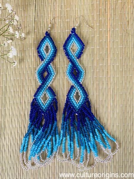 Dancing Flowers Blue